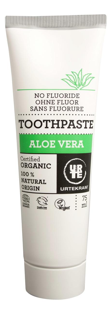 Купить Зубная паста с экстрактом алоэ вера Organic Toothpaste Aloe Vera 75мл, Urtekram