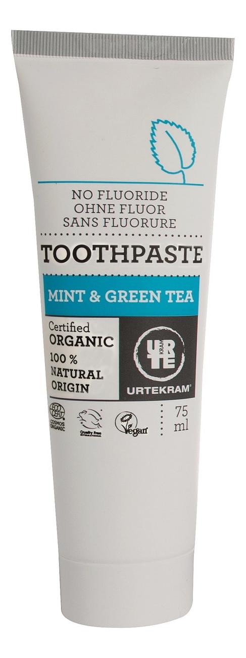 Купить Зубная паста с экстрактом зеленого чая и мяты Organic Toothpaste Mint & Green Tea 75мл, Зубная паста с экстрактом зеленого чая и мяты Organic Toothpaste Mint & Green Tea 75мл, Urtekram
