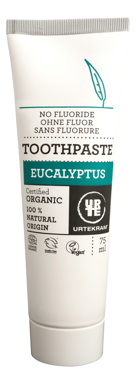 Купить Зубная паста с экстрактом эвкалипта Organic Toothpaste Eucalyptus 75мл, Urtekram