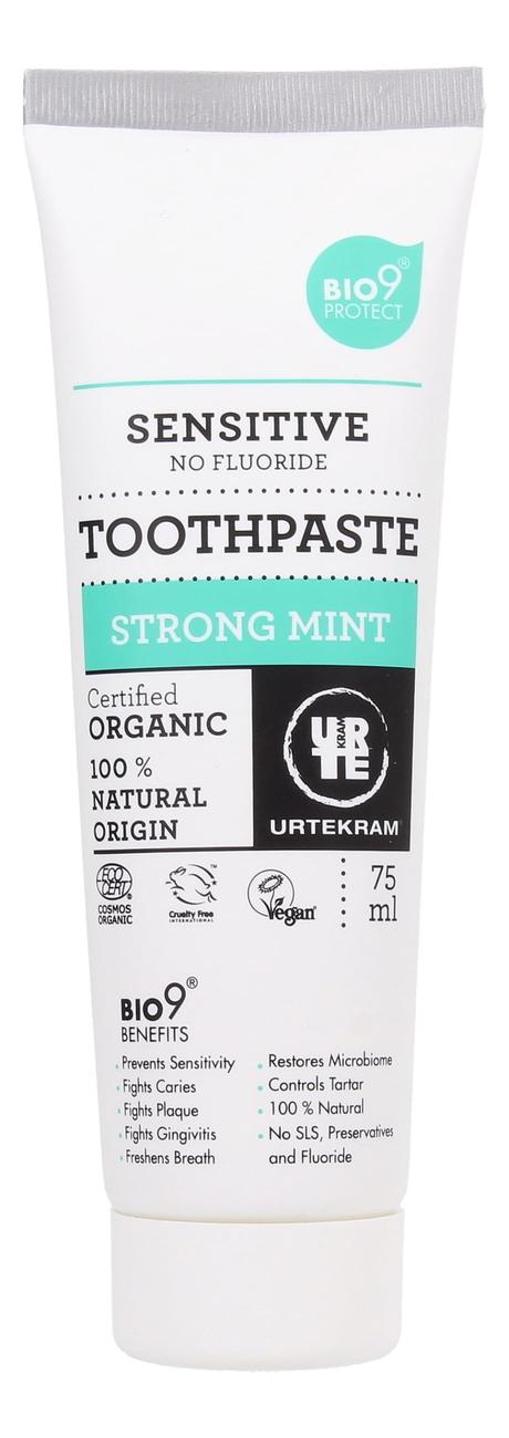 Купить Зубная паста с экстрактом мяты Organic Toothpaste Strong Mint Bio9 75мл, Urtekram