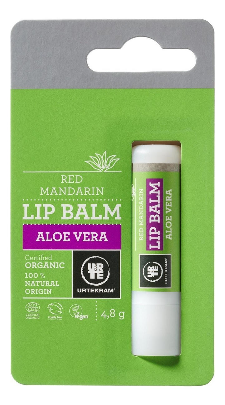 Бальзам для губ с экстрактом алоэ вера Organic Lip Balm Aloe Vera 5г бальзам для губ sheer beautifying lip balm 4 5г 040 watermelonade