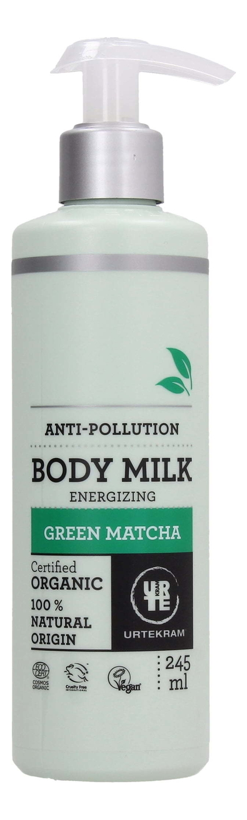 Купить Молочко для тела с экстрактом зеленого чая Матча Organic Body Milk Green Matcha 245мл, Urtekram