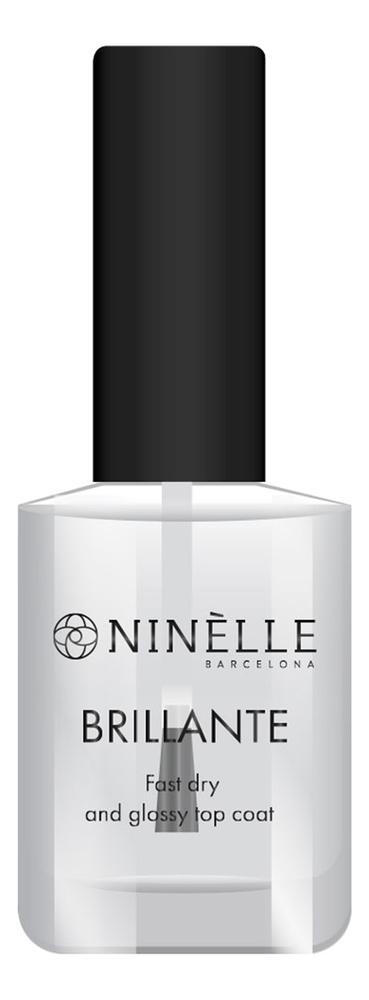Купить Быстросохнущее верхнее покрытие с блеском Brillante 10мл, NINELLE