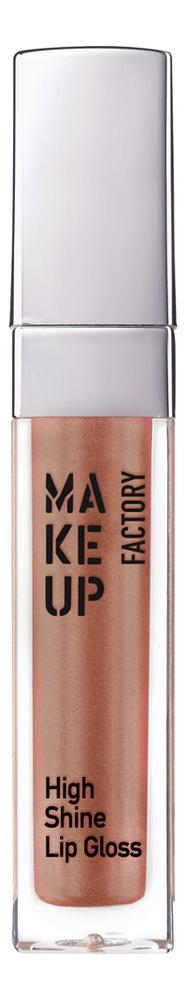 Купить Блеск для губ с эффектом влажных губ High Shine Lip Gloss 6, 5мл: 16 Brown Harmony, MAKE UP FACTORY