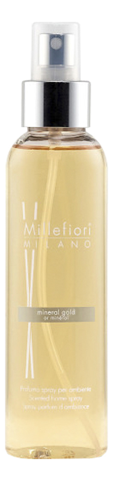 Купить Духи-спрей для дома Золотой минерал Hydro Mineral Gold 150мл, Millefiori Milano