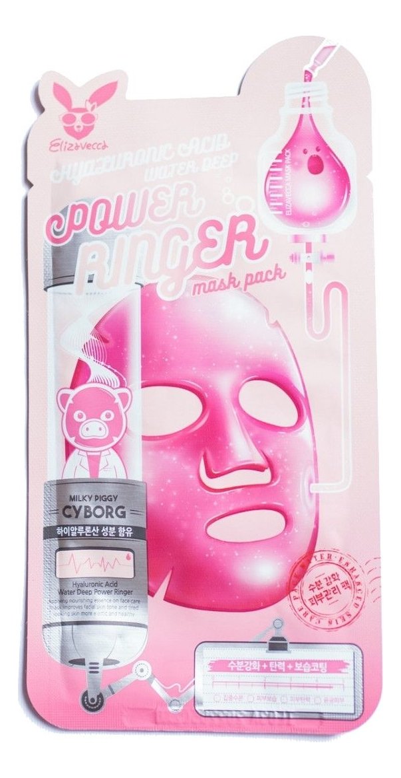 Купить Тканевая маска для лица Hyaluronic Acid Water Deep Power Ringer Mask Pack 23мл: Маска 1шт, Elizavecca