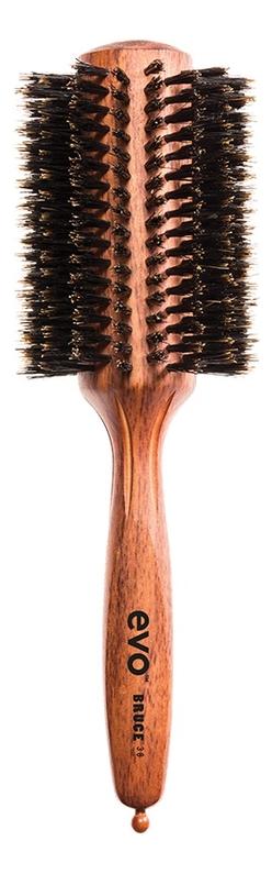 Круглая щетка для волос с натуральной щетиной Bruce Natural Bristle Radial Brush: Щетка 38мм