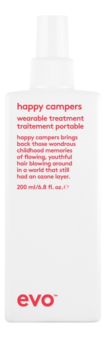 Интенсивно-увлажняющий несмываемый уход для волос Happy Campers Wearable Treatment 200мл