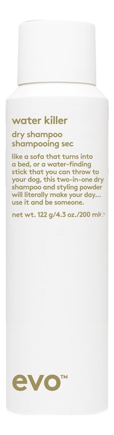Сухой шампунь-спрей для волос Water Killer Dry Shampoo 200мл: Шампунь-спрей 200мл