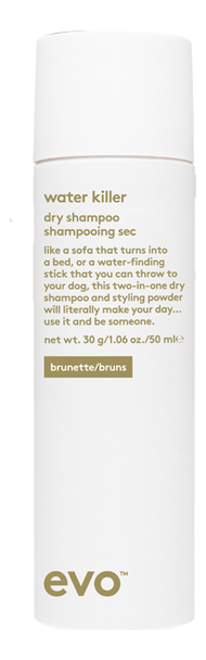Купить Сухой шампунь-спрей для темных волос Water Killer Dry Shampoo Brunette: Шампунь-спрей 50мл, evo