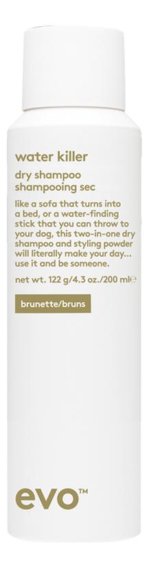 Купить Сухой шампунь-спрей для темных волос Water Killer Dry Shampoo Brunette: Шампунь-спрей 200мл, evo