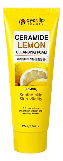 Кремовая пенка для умывания с керамидами и экстрактом лимона Ceramide Lemon Cleansing Foam 100мл недорого