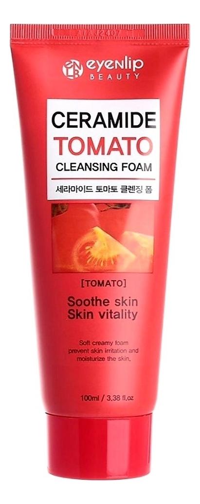 Очищающая пенка с экстрактом томата Ceramide Tomato Cleansing Foam 100мл