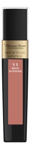 Жидкая помада для губ матовая Matte Fluid Lipstick 6мл: 11 Back In Rouge жидкая помада для губ матовая matte fluid lipstick 6мл 05 вишнево коричневый