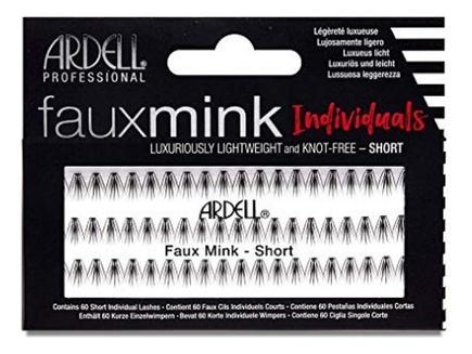 Накладные пучковые ресницы Faux Mink Individuals Short Black: Пучки средние