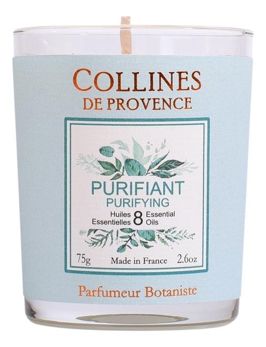 Купить Ароматическая свеча Purifying (очищающий аромат): Свеча 75г, Collines de Provence
