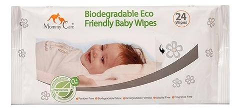 Органические детские влажные салфетки 0+ Biodegradable Eco Friendly Baby Wipes 24шт