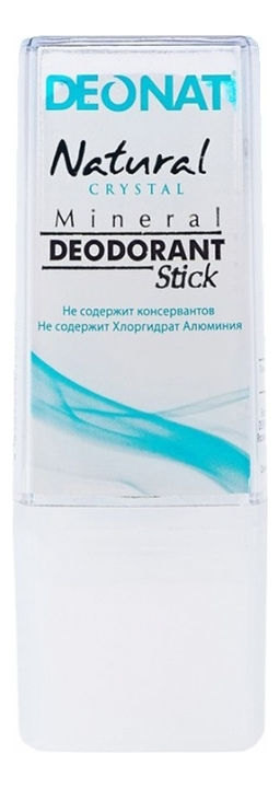 Купить Дезодорант-кристалл Natural Crystal Mineral Deodorant Stick: Дезодорант 40г, DEONAT