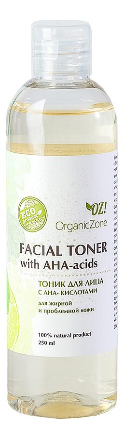 Фото - Тоник для жирной и проблемной кожи лица Facial Toner With AHA-Acids 250мл: Тоник 250мл тоник для жирной кожи лица facial tonic тоник 50мл