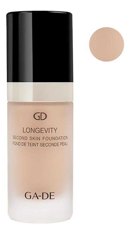 Тональная основа Longevity Second Skin Foundation 30мл: 114 Porcelain, GA-DE  - Купить