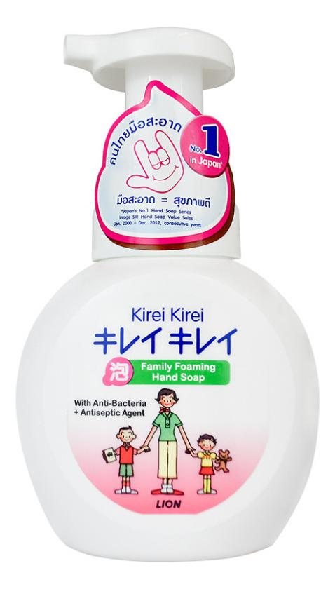 Фото - Мыло-пенка антибактериальная для рук Воздушное мыло Kirei Kirei 250мл: Мыло-пенка 250мл мыло пенка для младенцев с рождения baby soap мыло 500мл