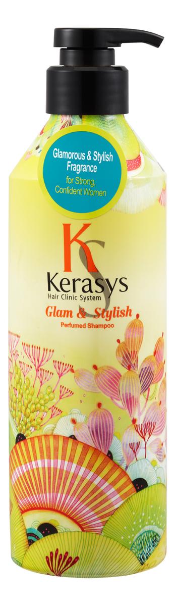 Фото - Шампунь для волос с экстрактом цветов ромашки Glam & Stylish Perfumed Shampoo: Шампунь 600мл kerasys glam stylish perfume кондиционер для волос гламур 600 мл