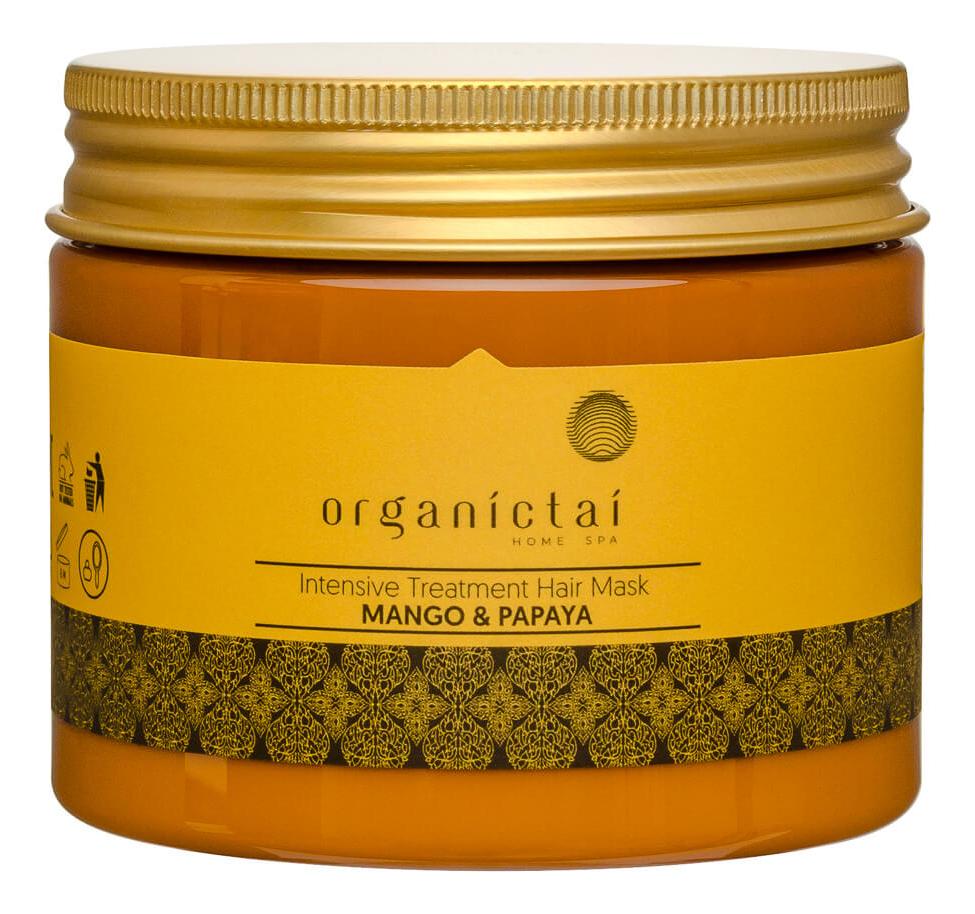 Купить Восстанавливающая маска для волос Intensive Treatment Hair Mask Mango & Papaya 150мл, Восстанавливающая маска для волос Intensive Treatment Hair Mask Mango & Papaya 150мл, Organic Tai