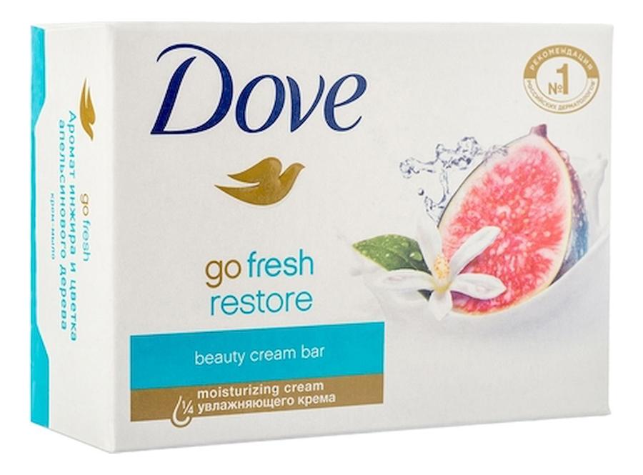 Купить Крем-мыло Инжир и лепестки апельсина Go Fresh Restore: Мыло 135г, Dove
