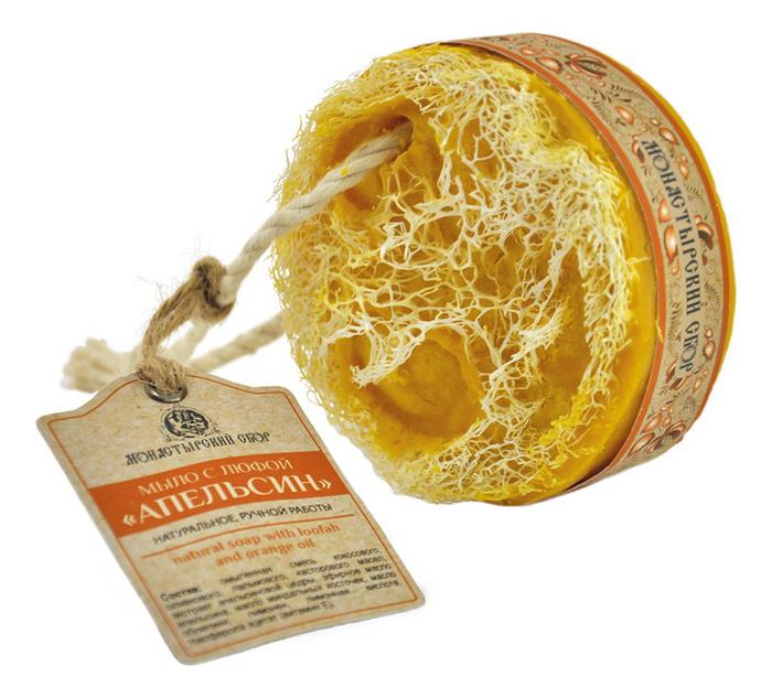 Мыло с люфой Апельсин 130г kleona мыло банное с протеинами овса 120 мл