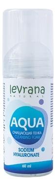 Купить Очищающая пенка с гиалуроновой кислотой Aqua Cleansing Foam Sodium Hyaluronate: Пенка 60мл, Levrana