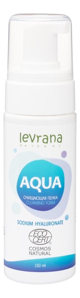 Купить Очищающая пенка с гиалуроновой кислотой Aqua Cleansing Foam Sodium Hyaluronate: Пенка 150мл, Levrana
