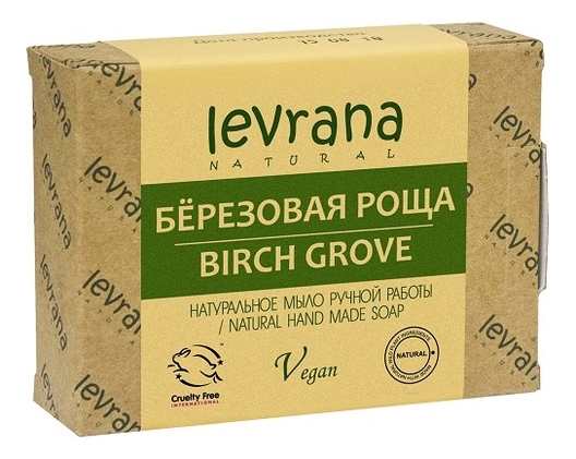 Натуральное мыло ручной работы Березовая роща Natural Hand Made Soap Birch Grove 100г levrana натуральное мыло ручной работы дубовая роща 100 г
