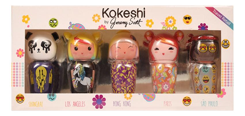 Kokeshi By Jeremy Scott Set: туалетная вода 5*5мл (Cheery + Bambu Tonka Litchee Lotus)