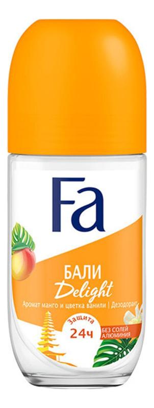 Шариковый дезодорант Ритмы острова Бали Delight 50мл дезодорант шариковый fa чувственная роза 50 мл