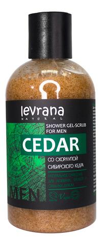 Гель-скраб для душа со скорлупой сибирского кедра Cedar Shower Gel-Scrub For Men 300мл reflection for men гель для душа 300мл