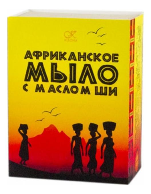 Африканское мыло с маслом Ши 120г kleona мыло банное с протеинами овса 120 мл