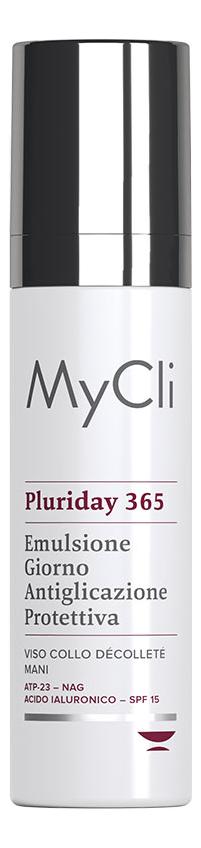 Купить Защитная эмульсия для лица, шеи и зоны декольте Pluriday 365 Emulsione Giorno Antiglicazione Protettiva 50мл, MyCli
