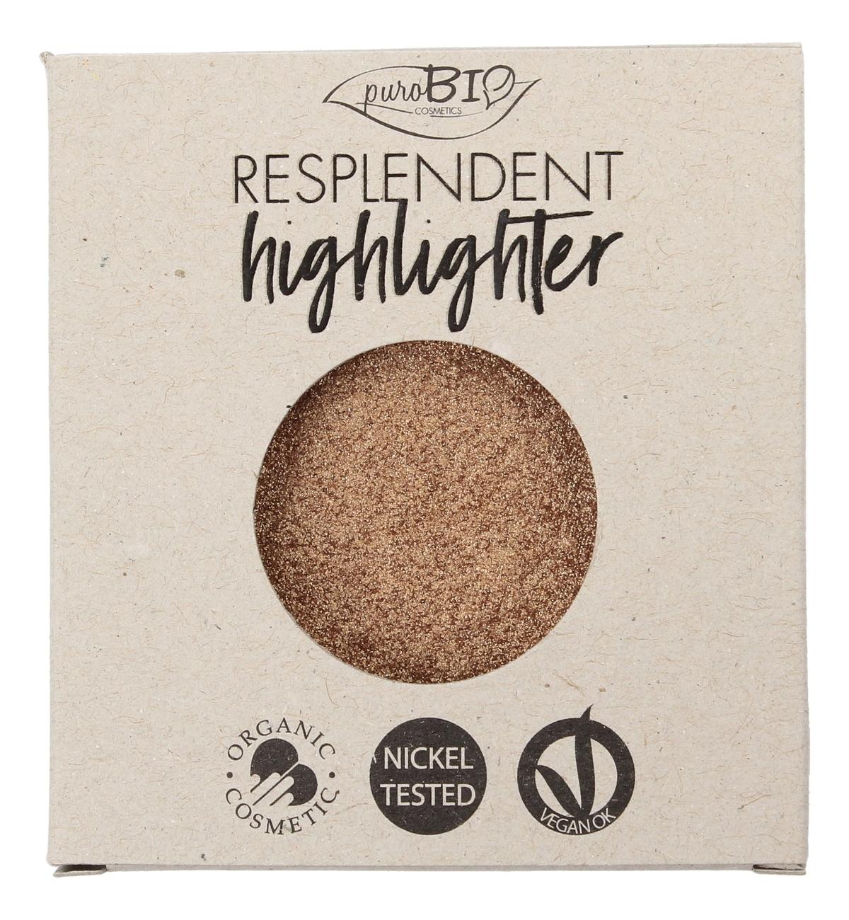 Купить Пудра-хайлайтер для лица Resplendent Highlighter 9г: No 03 (запасной блок), puroBIO