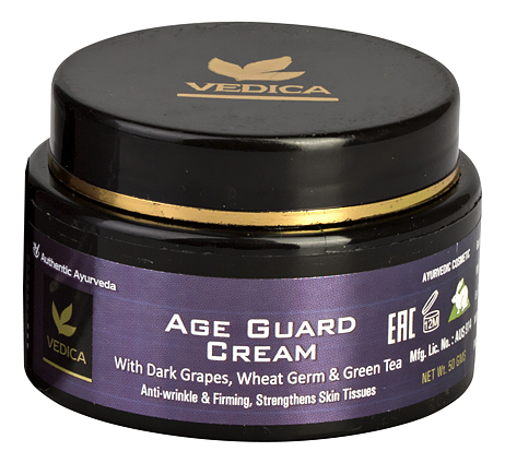 Купить Антивозрастной крем для лица с эффектом лифтинга Age Guard Cream 50г, Veda Vedica