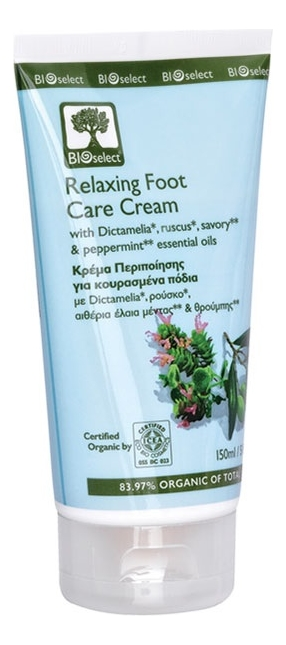 Крем для ног с экстрактом чабреца Organic Relaxing Foot Care Cream 150мл
