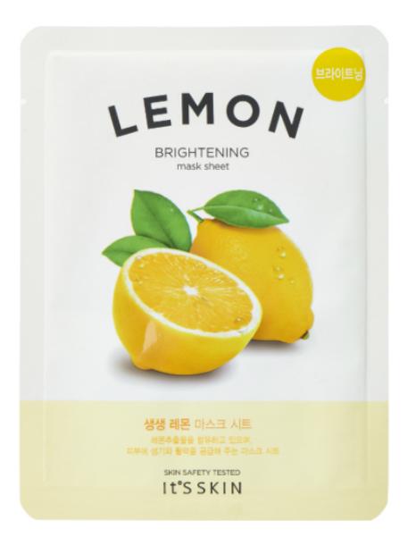 Купить Тонизирующая тканевая маска для лица с лимоном The Fresh Mask Sheet Lemon 18г, It's Skin