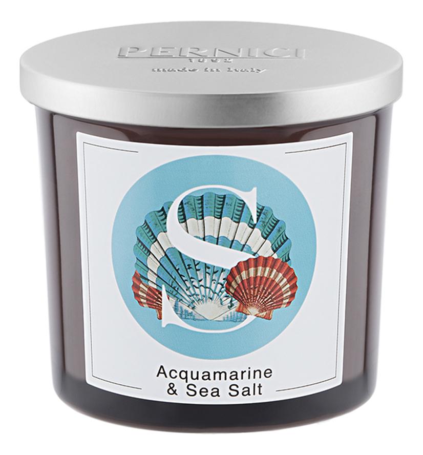 Купить Ароматическая свеча Аквамарин и Морская соль: свеча 350г, Pernici