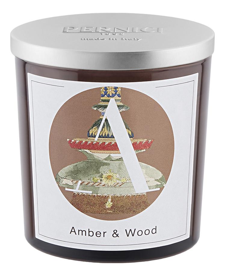 Купить Ароматическая свеча Амбра и Древесина: свеча 350г, Pernici