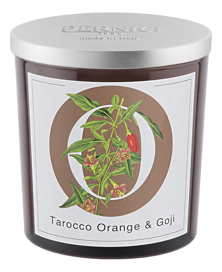 Купить Ароматическая свеча Апельсин тарокко и Ягоды годжи: свеча 350г, Pernici