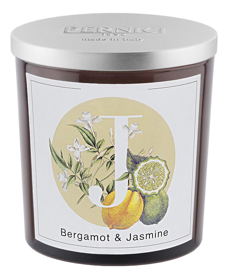 Купить Ароматическая свеча Бергамот и Жасмин: свеча 350г, Pernici