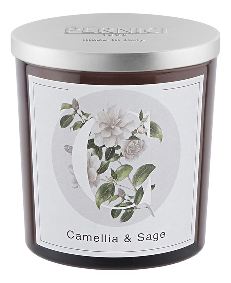 Купить Ароматическая свеча Камелия и Шалфей: свеча 350г, Pernici