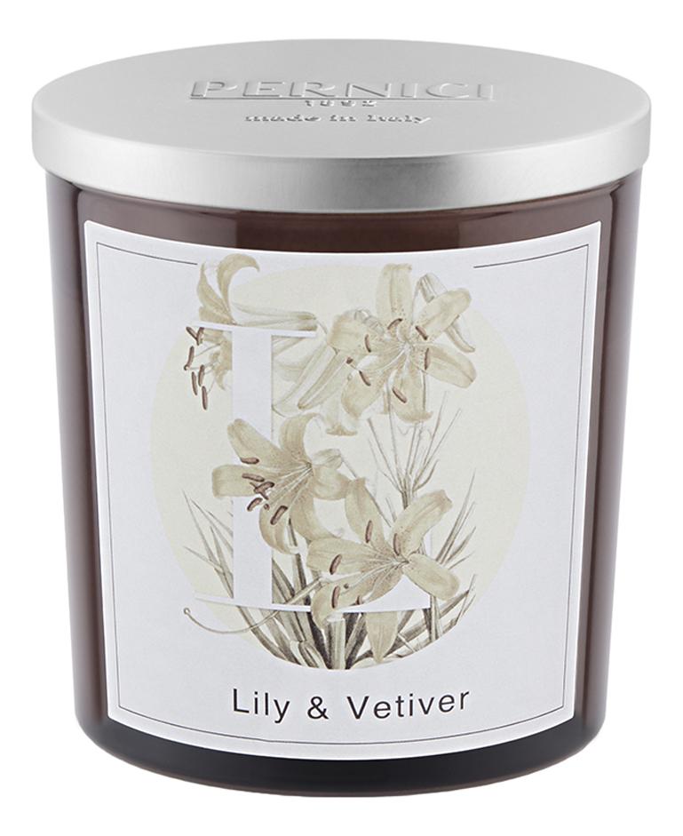 Купить Ароматическая свеча Лилия и Ветивер: свеча 350г, Pernici
