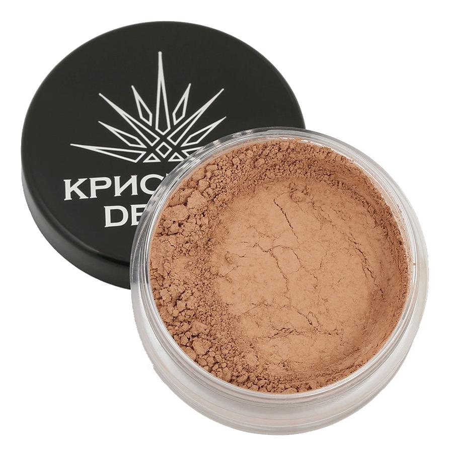 Тональная пудра-основа для макияжа лица Кристалл Dекор 5г: Бежево-коричневый