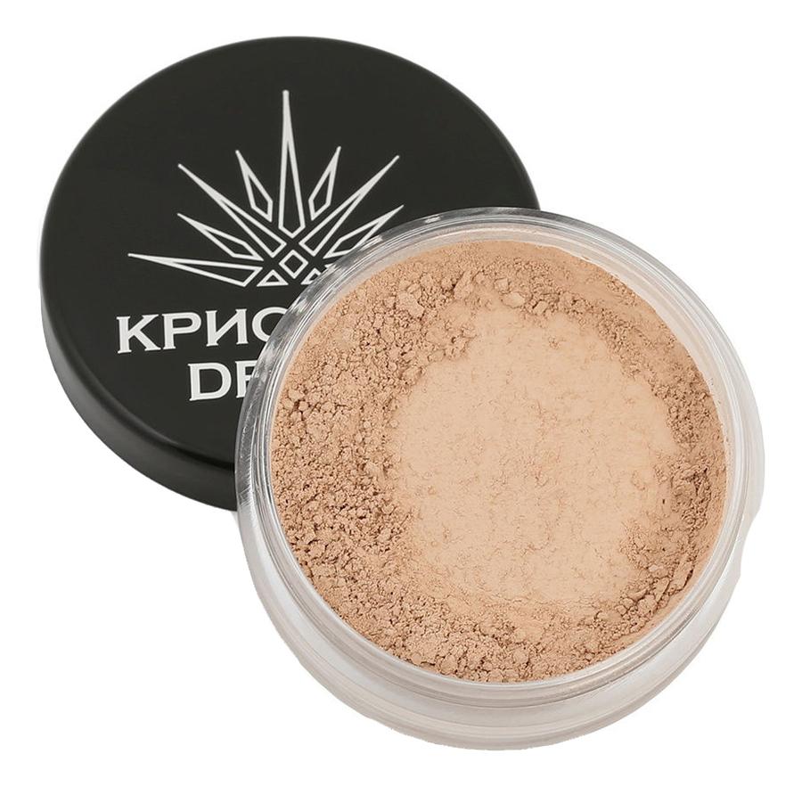 Тональная пудра-основа для макияжа лица Кристалл Dекор 5г: Крем-карамель