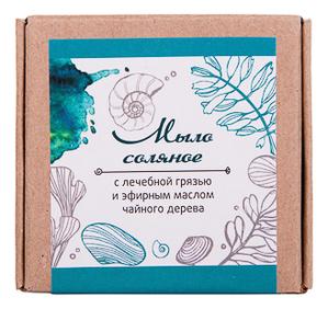 Мыло соляное с лечебной грязью и эфирным маслом чайного дерева 90г